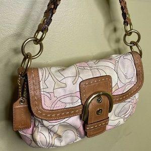 Coach 11909 Pink Beige Soho Shoulder Bag Purse